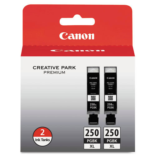Canon 250PGBK Twin-pack Ink Cartridge - Pigment Black