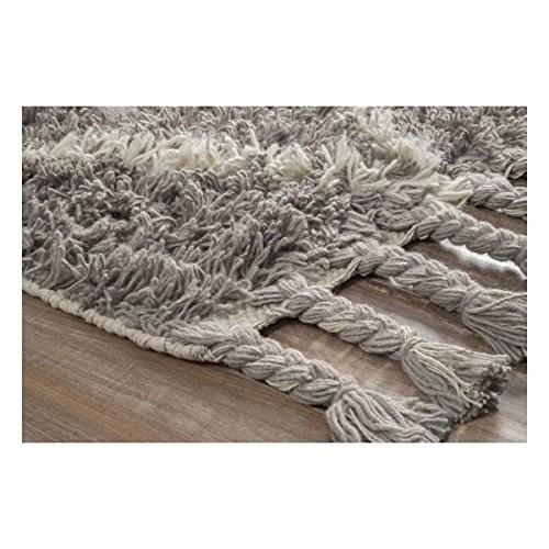 nuLOOM Hand Knotted Fez Trellis Shag Area Rug, Grey, 2' 8