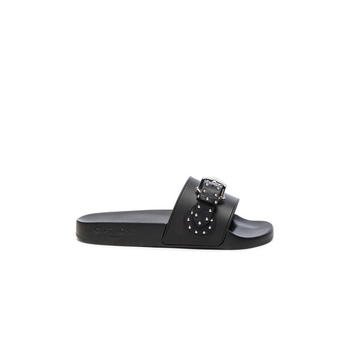 Givenchy Buckle Rubber Slides in Black