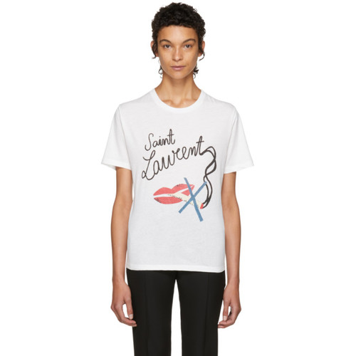 SAINT LAURENT White Bouche T-Shirt