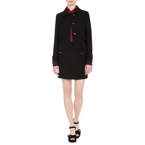 PRADA Virgin Wool Blazer Jacket, Black
