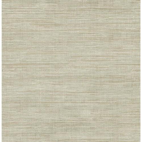 Brewster Woven Beige Faux Grasscloth Wallpaper