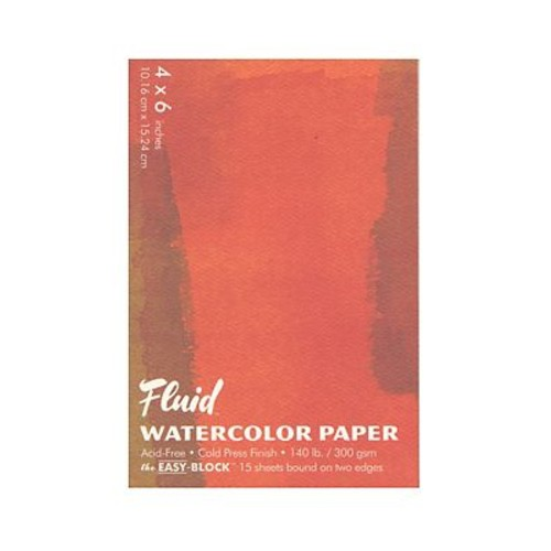 Global Art Fluid Cold Press Watercolor Paper 4 in. x 6 in. block [Pack of 3]
