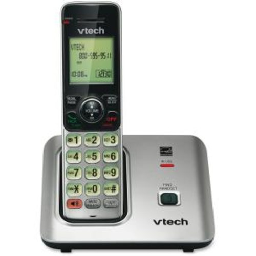 VTech CS6619 DECT 6.0 1.90 GHz Cordless Phone - Silver - Cordless - 1 x Phone Line - Speakerphone - Hearing Aid Compatible - Backlight