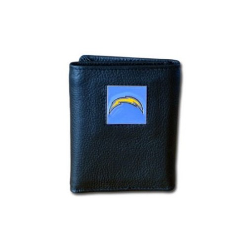 San Diego Chargers NFL Leather & Nylon Tri-Fold Wallet
