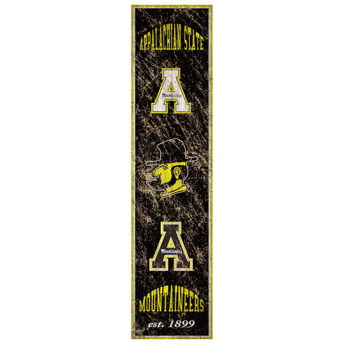 Appalachian State Mountaineers Heritage Banner Wall Art