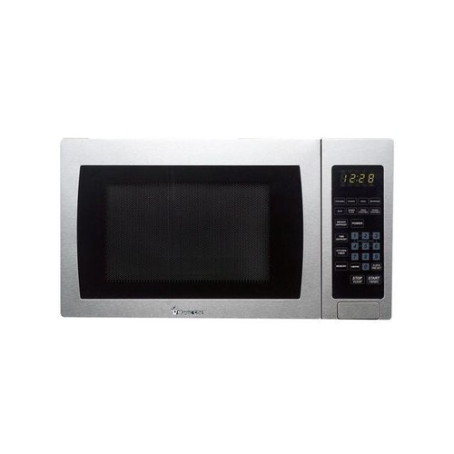 Magic Chef MCM990ST 0.9 Cu Ft Countertop Microwave 900 Watt with Digital Touch, Stainless Steel