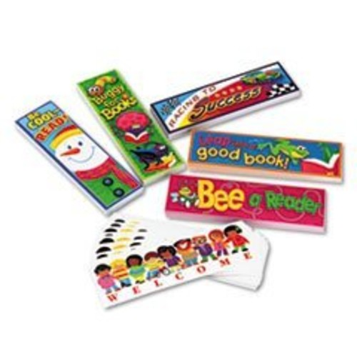 TREND T12906 Bookmark Combo Packs, Celebrate Reading Variety #1, 2w x 6h, 216/Pack [1, Multicolored]