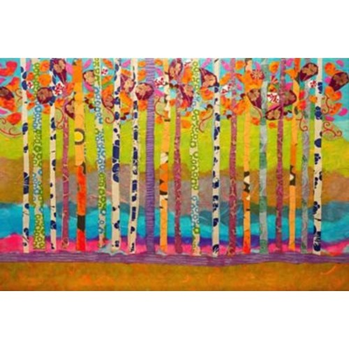 Marmont Hill 'Blooming Birch Trees' by Lisa Mee Painting Print on Wrapped Canvas; 12'' H x 18'' W
