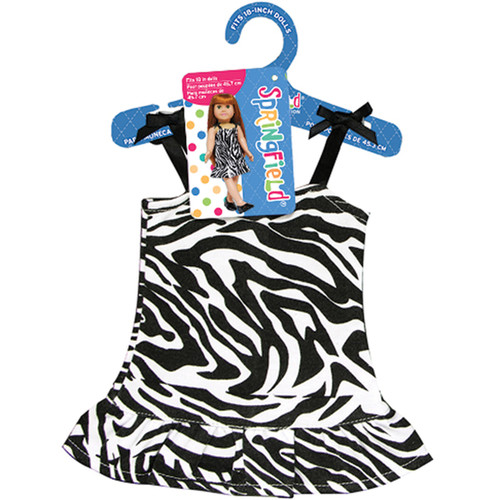 Springfield Collection Black/White Zebra Dress