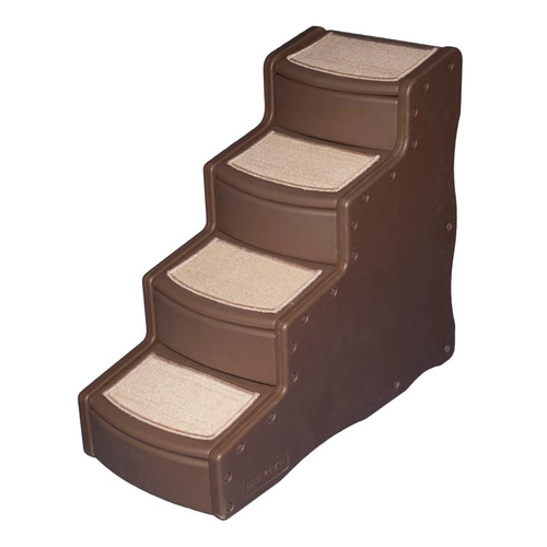 Pet Gear Easy Step IV Pet Stairs, 4-Step for cats and dogs [Chocolate]