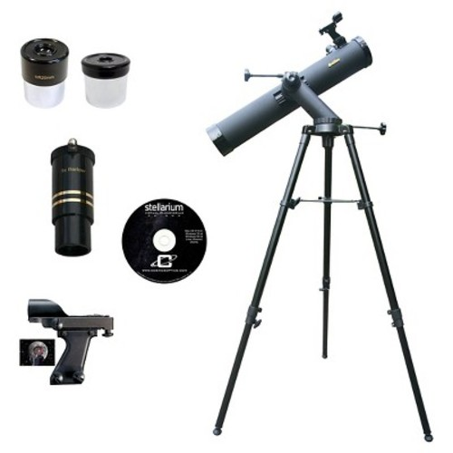 Cassini Galileo G-80080TR Tracker Series Reflector Telescope - Black (800mm X 80mm)