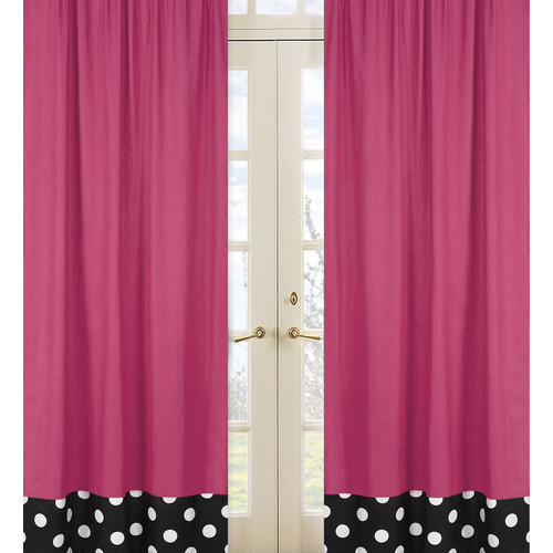 Sweet Jojo Designs Hot Dot Collection Window Panels