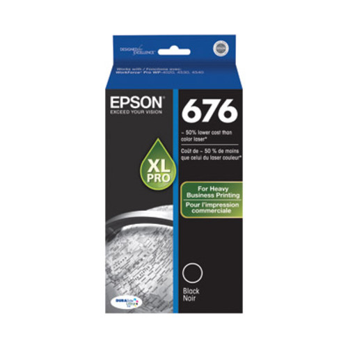 Epson 676XL (T676XL120) High-Yield Black Ink Cartridge
