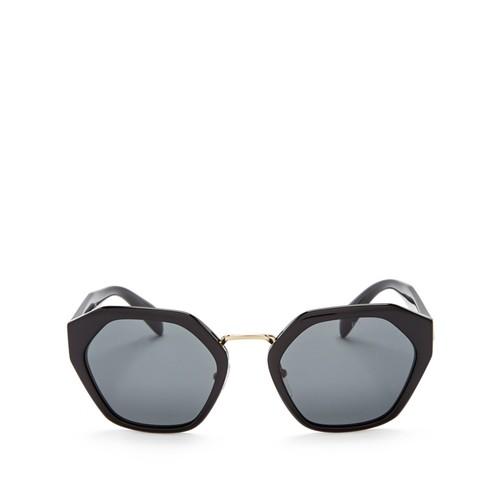 PRADA Oversized Hexagonal Sunglasses, 55Mm