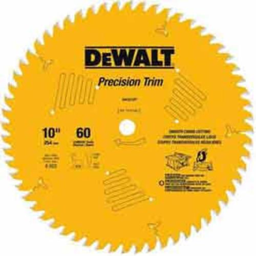 DeWalt Precision Trim 10-in 60-Tooth Circular Saw Blade DW3215PT
