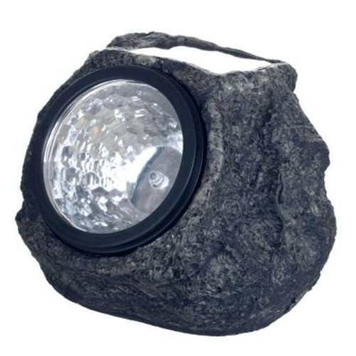 Pure Garden Solar Powered LED Grey Rock Landscaping Light (4-Pack)