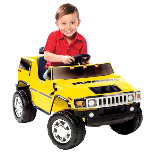 National Products 6V Yellow Hummer H2 Battery Operated Ride-on [Standard Packaging]