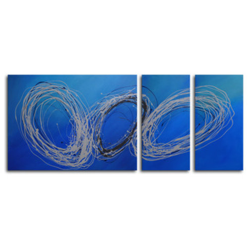 Coils of Wire 3 Piece Painting on Canvas Set