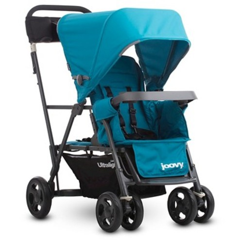 Joovy Caboose Ultralight Graphite Stand-On Tandem Stroller in Turquoise