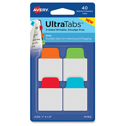Avery UltraTabs Repositionable Mini Tabs - 1.50