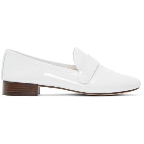 REPETTO White Patent Leather Michael Loafers