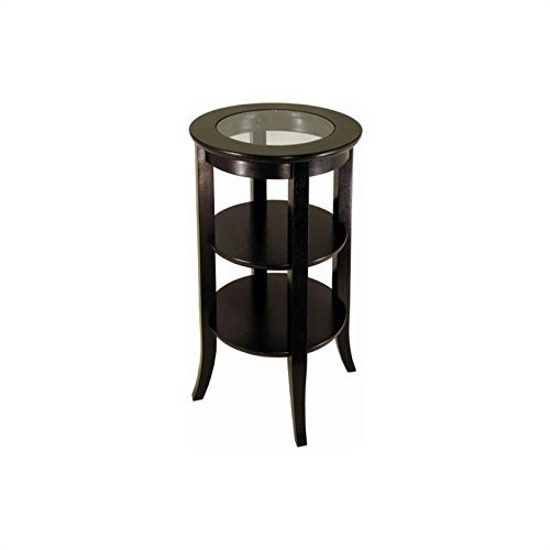 Winsome Wood Round Side Table, Espresso