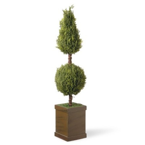 Artificial Cone and Ball Topiary Tree Green 47