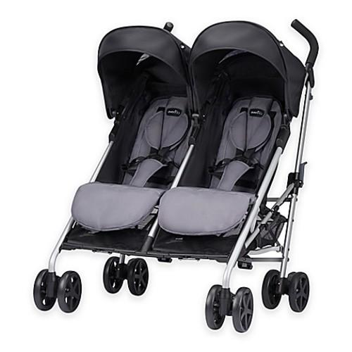 Evenflo Minno Twin Double Stroller in Glenbarr Grey