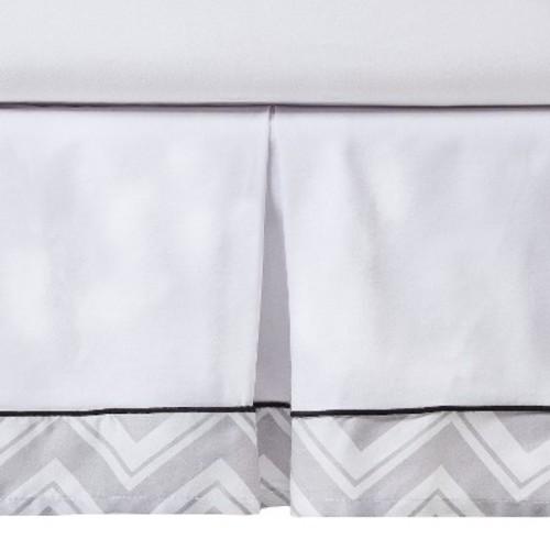 Sweet Jojo Designs Zig Zag Toddler Bed Skirt - Gray
