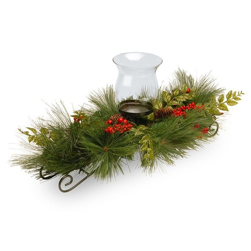 National Tree Company Artificial Mixed Bristle Pine Candle Holder