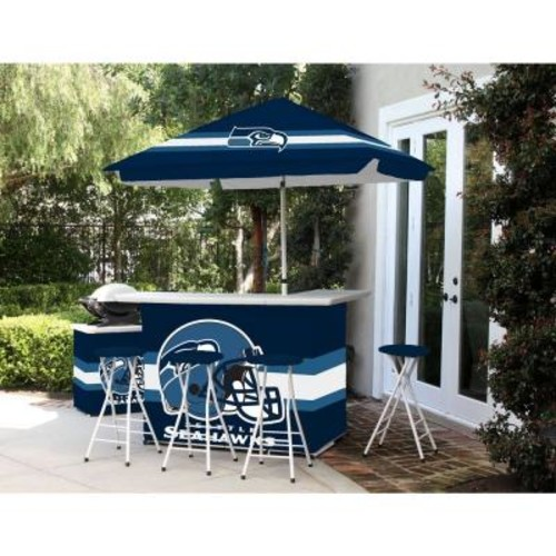 Best of Times Seattle Seahawks 6-Piece All-Weather Patio Bar Set with 6 ft. Umbrella