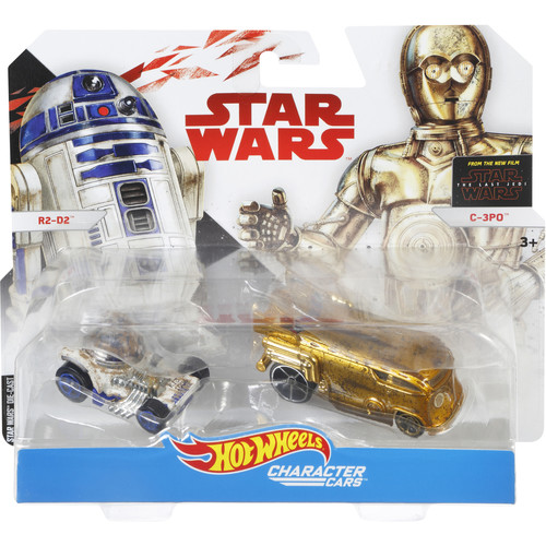 Hot Wheels Star Wars Episode 8 1:64 Scale Character Cars - C-3O and R2-D2