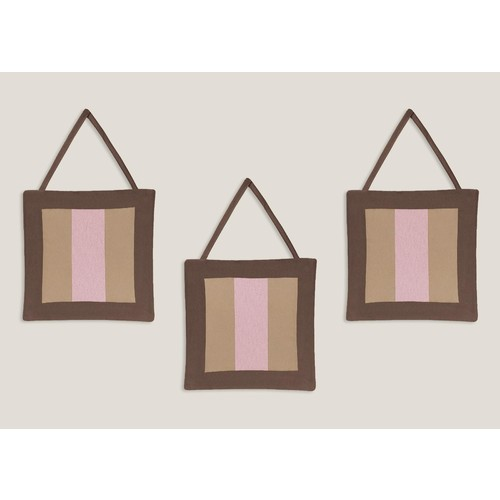 Sweet Jojo Designs Soho Pink and Brown Collection Wall Hangings
