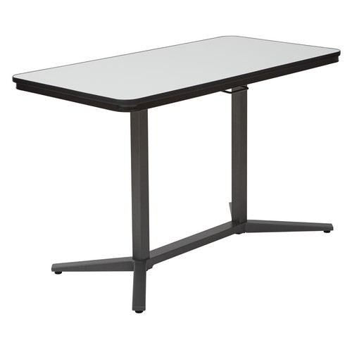 Pro-Line II PneumaticWhite and Titanium Height Adjustable Table
