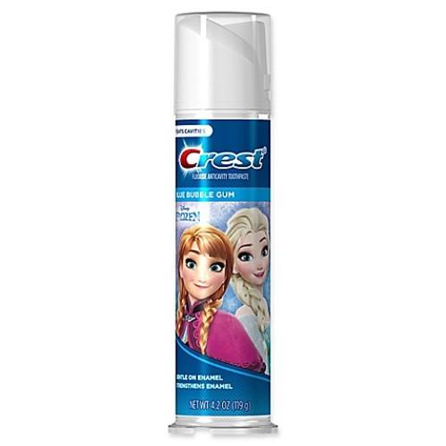Crest Kid's 4.2 oz. Disney Frozen Bubble Gum Flavor Fluoride Anticavity Toothpaste