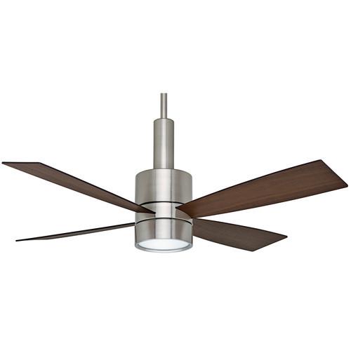 Casablanca 59068 Bullet 54 in. Contemporary Brushed Nickel Burnt Walnut Indoor Ceiling Fan
