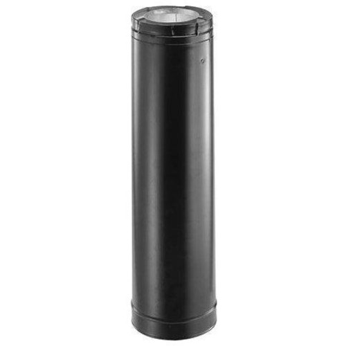 DuraVent 3136B Stainless Steel 36 Inch Straight Length Pipe (Black) with 4 Inch Inner Diameter