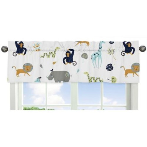 Sweet Jojo Designs Mod Jungle Safari Animal Print Window Valance