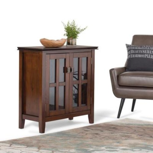 Simpli Home Artisan Medium Auburn Brown Storage Cabinet