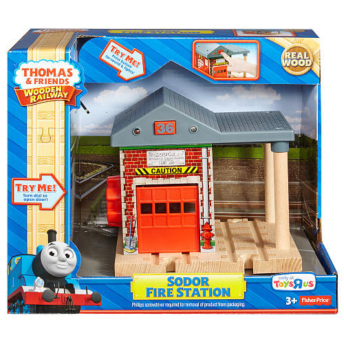 Fisher-Price Thomas & Friends Wooden Railway - Sodor Fire Station