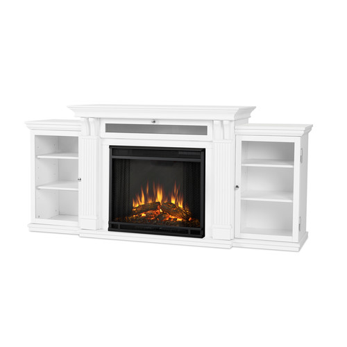 Real Flame Calie Entertainment Electric Fireplace - White