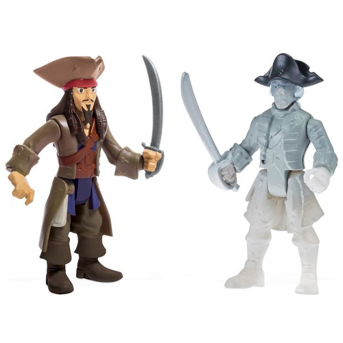 Pirates of the Caribbean: Dead Men Tell No Tales 2-Pack Action Figure - Jack Sparrow vs. Ghost Crewman