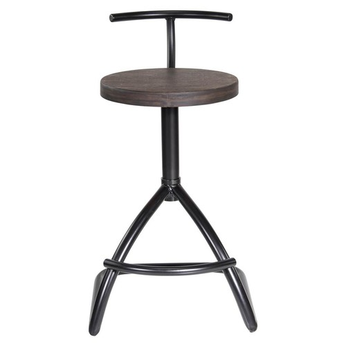 Lumisource Counter Stool in Black and Espresso