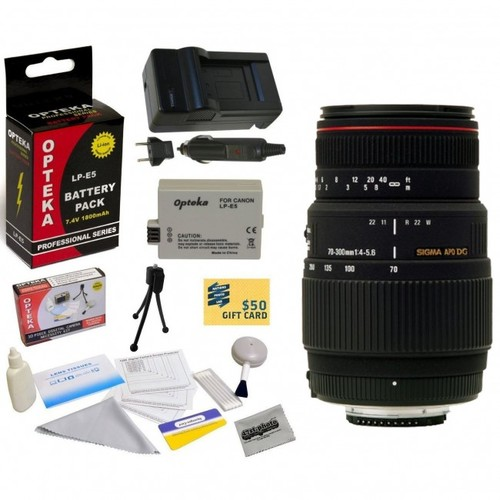 Sigma 70-300mm f/4-5.6 DG APO Macro Motorized Telephoto Zoom Lens With 3 Year Extended Lens Warranty For the Canon XS XS
