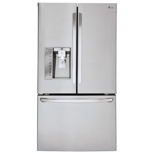 LG - 29.8 Cu. Ft. French Door Smart Refrigerator with Thru-the-Door Ice and Water - Stainless steel