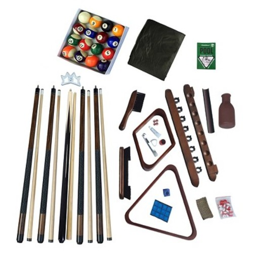 Hathaway Deluxe Billiards Accessory Kit - Walnut Finish