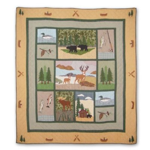 Patch Magic Lodge Fever Quilt; Full / Queen