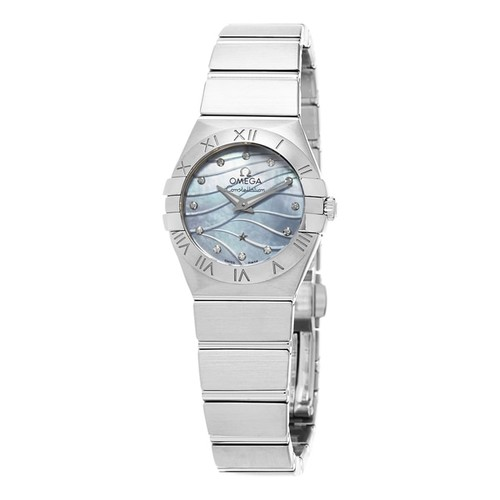 Omega Women's 123.10.24.60.57.001 'Constellation' Blue Mother of Pearl Diamond Dial Stainless Steel