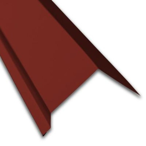 Metal Sales Eave Molding in Red